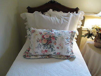 LOT OF CROSCILL SHABBY  FRENCH COUNTRY  CHIC pillow shams &  BEDSKIRT
