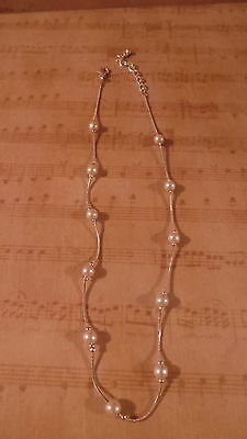 New Charter Club Silver & Pearl Necklace