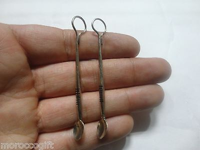 Handcrafted African Tuareg Berber  Spoon Earrings Ethnic Tribal Jewelry Niger