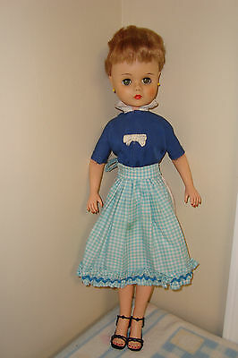 1950s Era EEGEE Doll AE2506, Vinyl. 24 inches tall, Good Condition with Clothing