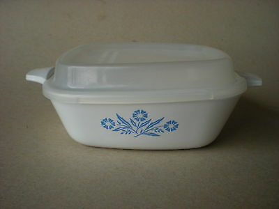 Corning Blue Cornflower 1 3/4 Cup Bowl and Plastic Lid