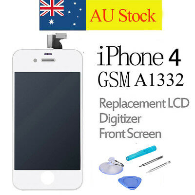 For iPhone 4 LCD Screen Replacement Touch Digitizer Display Assembly White A1332