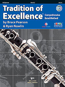 Pearson & Nowlin: Tradition of Excellence Book 2 - Bb Clarinet - Kjos W62CL NEW