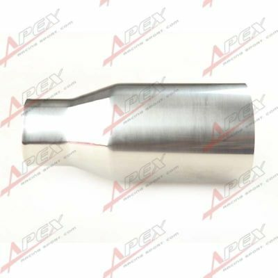 """Universal T304 Stainless Steel Oval Inlet 2.5"""" Muffler Exhaust 3.5"""" Outlet Tip"""
