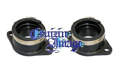 68-72 Suzuki T500 Carb Intake  Set Two Intakes & Clamps 21-T500INBT