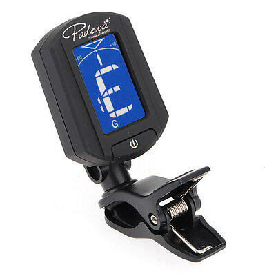 LCD Clip On Tuner Electronic Digital Chromatic Guitar Bass Violin Ukulele