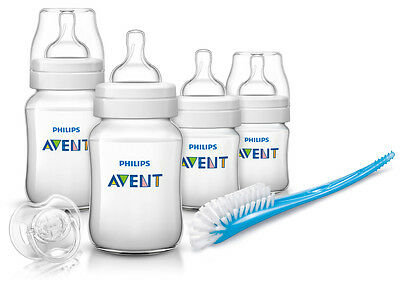 Philips Avent Newborn Classic+ Starter Set Bottle Teat Brush Soother SCD371/00