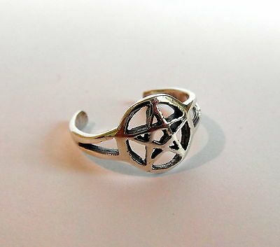 Sterling Silver (925) Adjustable Pentagram Toe Ring  !!     Brand New !!