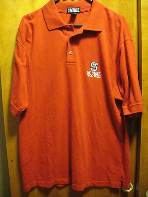 NC State Wolf Pack NCAA Polo Golf Shirt Large Red North Carolina