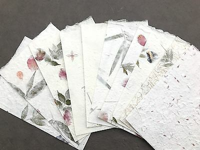20pcs. Flowers, Petals, Leaves, Pressed Botanical Handmade Mulberry Paper Sheets