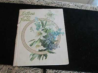 Victorian Booklet LILIES OF THE FIELD THE GARLAND SERIES BIBLE VERSES VTG