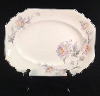 Limoges Silver Moon Ivory Ware Small Rectangular Plate