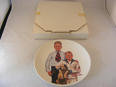 "Norman Rockwell ""Sundays Best"" Collectible Plate SIGNED"
