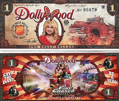 ** 2014 Dolly Dollar ($1.00 Note) from Dollywood Theme Park **