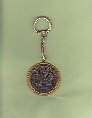 Commonwealth of Kentucky Bluegrass State Coin Token Keychain Derby Horseracing