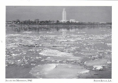 """""""Ice On The Mississippi"""" -The Winter of 1940- *Baton Rouge, LA (Postcard--#119)"""