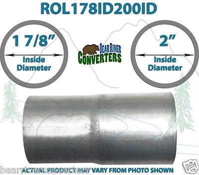 "2"" OD to 2 1//8"" 2.125/"" ID Universal Exhaust Component to Pipe Adapter Reducer"