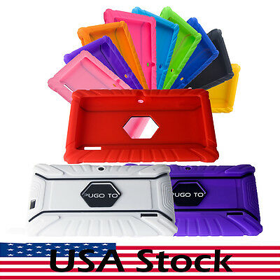 Silicone Rubber Skin Case Cover for 7'' Dragon Touch Y88X iRulu A23/ Vuru Tablet