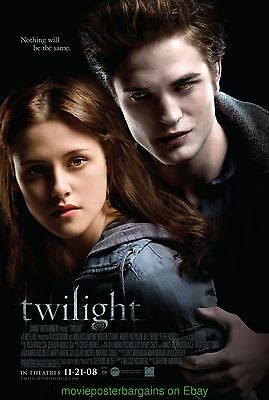 TWILIGHT MOVIE POSTER ORIGINAL DS 27x40 FINAL STYLE KRISTIN STEWART VAMPIRE 2008