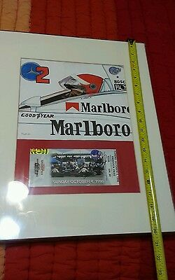 This is an original artist rendition of #2 Al Unser, Jr. With autographed ticket