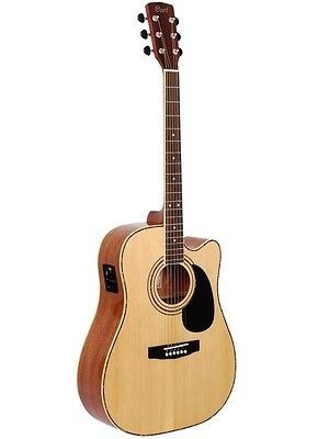 Cort Acoustic Electric Dreadnought Guitar AD880CE natural,New,Warranty save $130