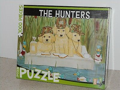 """""""THE HUNTERS"""" 1,000 PIECE PUZZLE BY GO GAMES - BRAND NEW IN FACTORY SEALED BOX"""