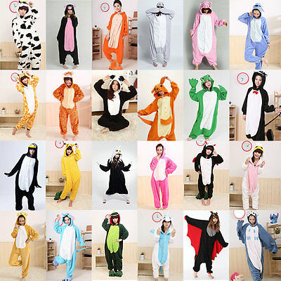 Free Shipping Unisex Onesie Pajamas Animal Costume Adult Cosplay Sleepwear Suit