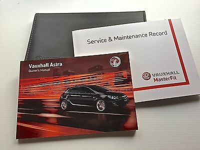 VAUXHALL  ASTRA J & TOURER SERVICE BOOK HANDBOOK & WALLET PACK 2009 To 2011