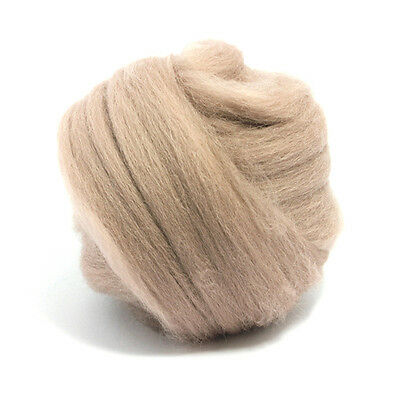 100g DYED MERINO WOOL TOP MINK PINK BROWN DREADS 64's SPINNING FELTING ROVING