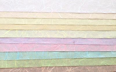 Pastel colors 10 Sheets of  SAA MULBERRY Paper tissue paper- Wrapping, Card