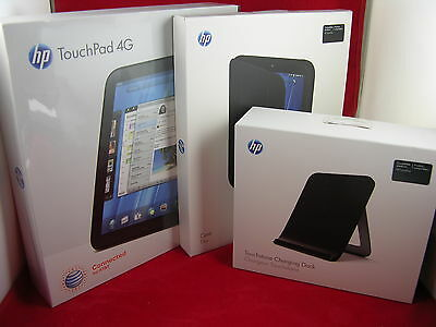 New! HP Touchpad 32gb AT&T 4G with Charging Dock and Case & Unlocked code