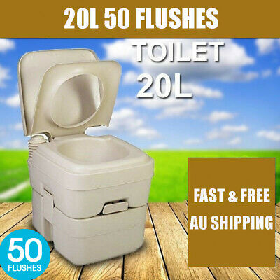20L Outdoor Portable Camping Toilet w/ Carry Bag Caravan Travel Bucket Boat