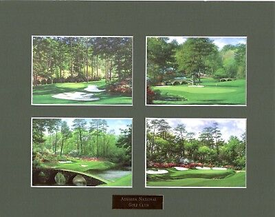 11x14  Augusta National golf print matted collage MASTERS - free shipping