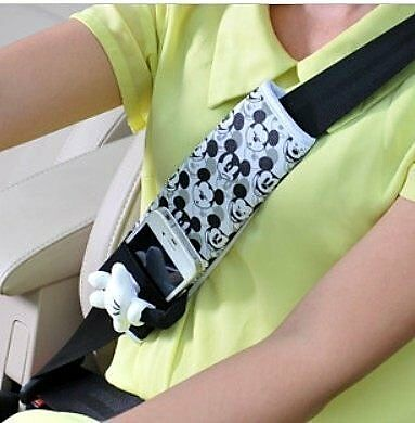 NEW NAPOLEX WD-123 Disney Mickey Mouse Car Seat Belt Seatbelt Cover 1pcs