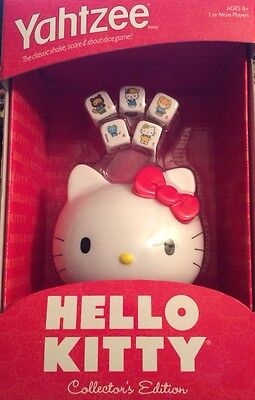 Hello Kitty Yahtzee Game -- Collector's Edition - Age 8+,  by Sanrio & Hasbro