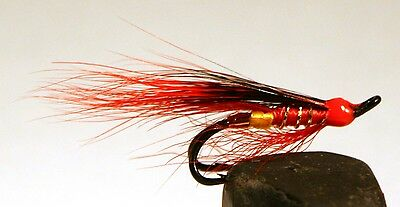 Salmon Fly,Sela Red, Double Hook.(3-pack) Pick a size. Fly Fishing Fly