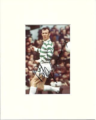 A 10 x 8 inch mount, personally signed by Bobby Lennox of Celtic.