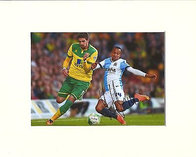 A 10 x 8 inch mount, personally signed by Markus Olsson of Blackburn Rovers.