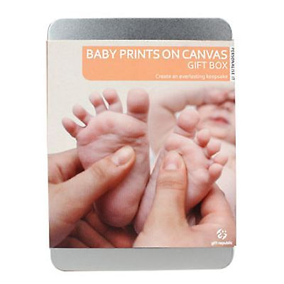 Personalise It Baby Prints On Canvas New Born Baby Shower Novelty Gift Child New