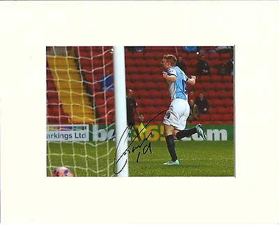 A 10 x 8 inch mount, personally signed by Chris Taylor of Blackburn Rovers.