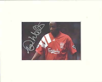 A 10 x 8 inch mount, personally signed by Mark Walters of Liverpool.