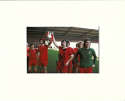 A 10 x 8 inch mount, personally signed by Tommy Smith of Liverpool.