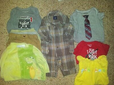 Lot of Boys Baby Clothes 12 Pieces Size 0-3 Months For the cool Kid