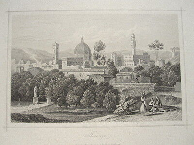italy italia florence firenze view 1850 ca
