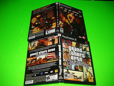 2X LOT PS2 Grand Theft Auto San Andreas,& GHOST RIDER  PlayStation 2,