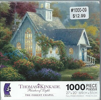 THE FOREST CHAPEL 1000 Piece Jigsaw Puzzle #3310-84 THOMAS KINKADE Series #14