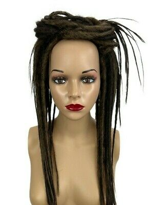Brown Mix Dread Falls, Hair Pieces, 20 Inches, Synthetic, Unisex.