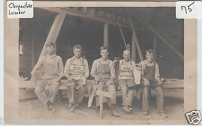 RPPC - Bourbon, Ind. - Bourbon Lumber & Coal Co. Workers - early 1900s