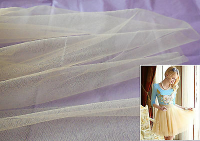 Golden Hexagonal Soft Tulle Fabric for dress making DIY 160cm wide.Sold per 0.5M
