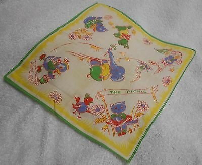 Scotty Scottie Dog Green And Colorful Animals Child's Handkerchief